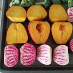beets in a roasting pan