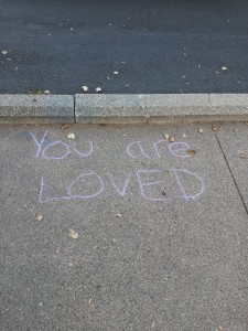 sidewalk writing