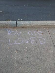 sidewalk writing
